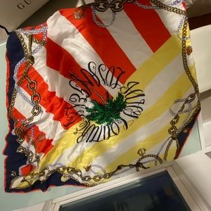 Juicy Couture Nautical Square Silk Scarf